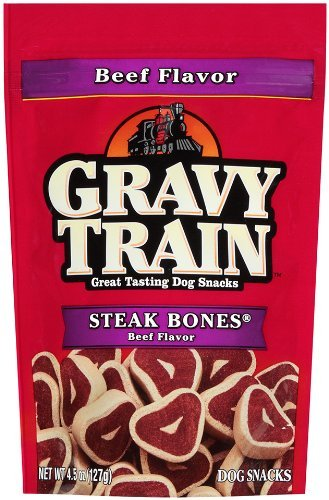 Gravy Train Dog Snacks: Steak Bones Beef Flavor 4.5 Oz (3 (Gravy Train Beef Flavor)