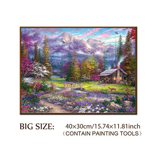 DIY 5D Diamond Painting Kit, ONE Phoenix Full Round Drill Large Clearance Rhinestone Art Craft 32 Animals Forest Deer Rabbit Bear Butterfly for Wall Decor, Contain Tools (40x30CM/15.75x11.81INCH)