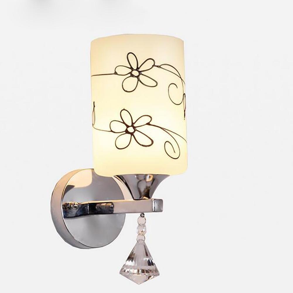 Financiale E27 Wandleuchte Schlafzimmer Leiter Lampe Kristall Wandleuchte Keine Lampe Wandleuchte Chrom Farbe Innen LED-Lampe Schlafzimmer Dekor heißer