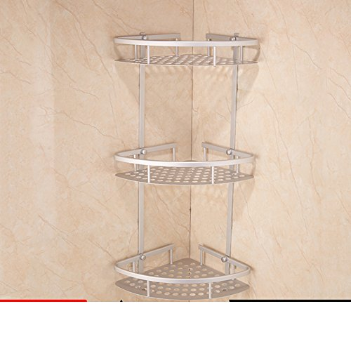 Space aluminum bathroom accessories/ bathroom corner rack/the shelf in the bathroom-F free shipping