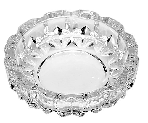 Deli Green Apple Crystal Heavy Glass Ashtray for Indoor and Outdoor Decorative - Tray Glass Green