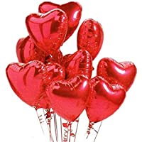 20 pcs 18inch Red Heart balloons, Heart shaped balloons foil Love balloons for Wedding Decoration Party balloons Birthday Gorgeous Balloon Decorations Wedding Party