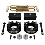 "Supreme Suspensions - Full 3"" Front + 2"" Rear Lift Kit for 2005 - 2016 Toyota Tacoma 4WD T6 Billet Front Strut Spacers and Rear Lift Blocks + Extended U-Bolts + Differential Drop"