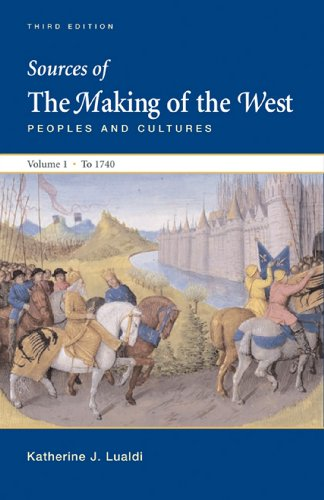 Sources of Making of the West with Concise Correlation Guide, Volume I