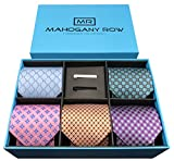 #10: Luxury Men's Necktie Collections, 5 Premium Italian Fabric Neckties, 2 Modern Tie Bars, Handcrafted Designer Gift Box, The Must Have Mens Necktie Sets