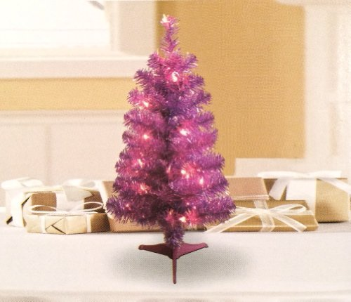 Pink 2-Foot Pre-lit Christmas Tree by unknown