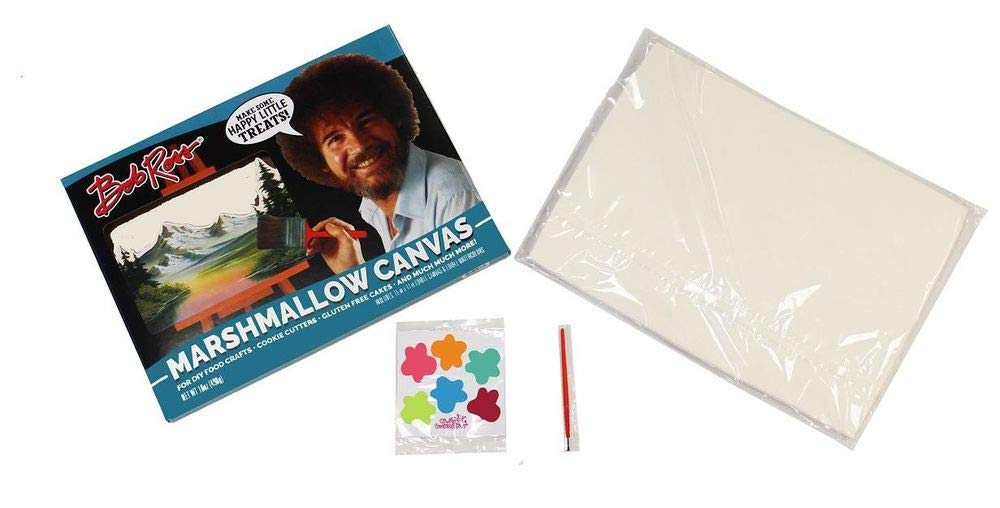 Bob Ross Marshmallow Canvas - Edible Candy Art Canvas and Paint Set - Gluten Free by FYE