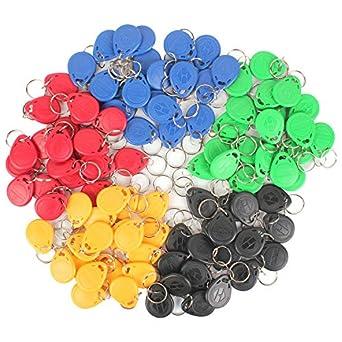 Amazon.com: Eau 100 piezas de 125 KHz RFID llaveros, 5 ...
