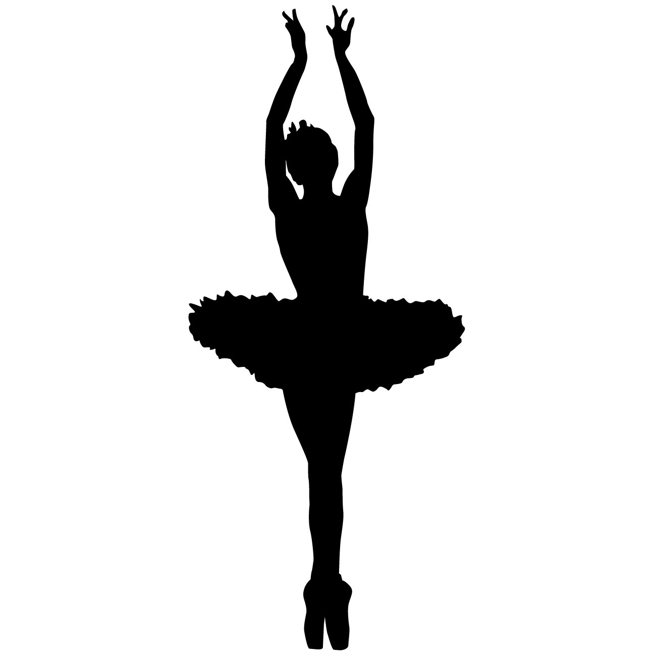 Dancer Ballerina Dance Wall Decal Sticker 4 - Decal Stickers and Mural for Kids Boys Girls Room and Bedroom. Ballet Vinyl Decor Wall Art for Home Decor and Decoration - Dancer Ballet Silhouette Mural