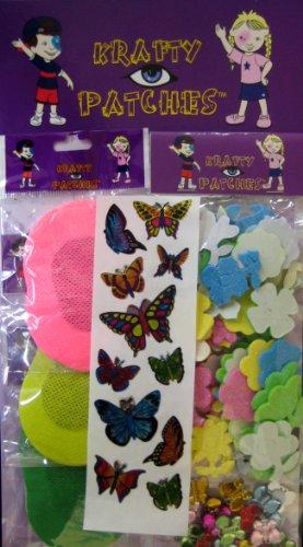 Reg Color Acrylic - Krafty Eye Patches- Girl Flower eye patch kit (30 Regular size patches)