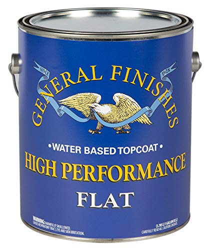 General Finishes GAHF High Performance Water Based Topcoat, 1 Gallon, Flat