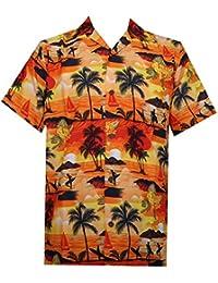 Hawaiian Shirt Mens allover Ocean Scenic Camp Party Aloha Holiday Beach