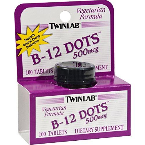 Twinlab B-12 Sublingual Dots - 500 mcg - 100 Tablets (Pack of - Sublingual B-12 Dots