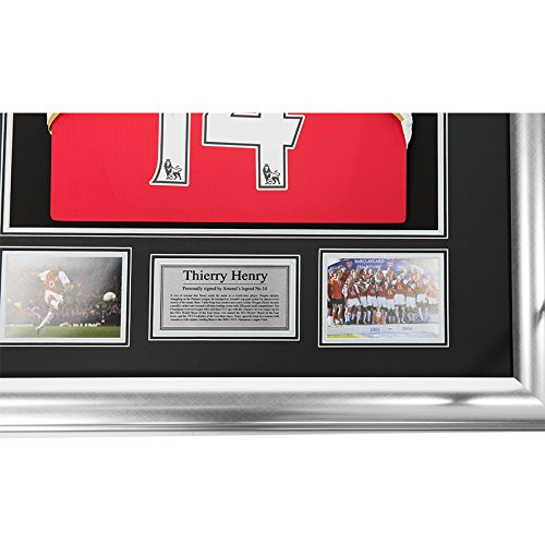 8c99f4449d1 MemorabiliaOutlet Signed Thierry Henry Arsenal FC Framed Shirt Jersey -  Legend - COA: Amazon.co.uk: Sports & Outdoors