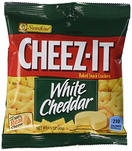 Kellogg's Cheez-It Crackers, White Cheddar, 1.5 Ounce (Pack of 60) (Mature Cheddar Cheese)