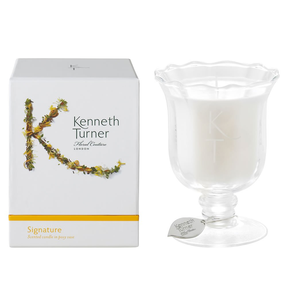 Signature Scented Candle in Posy Glass Vase by Kenneth Turner 200g / 50 Hours - NEW for 2015! KTSV506