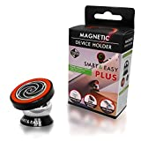 Best Magnetic Cell Phone Holder | Ultra Slim Dashboard Mount By Smart and Easy Plus | Universal Design | iPhone 7 / 6 / 5 Galaxy S7 / S6 | Top Rated by Uber and Lyft Drivers