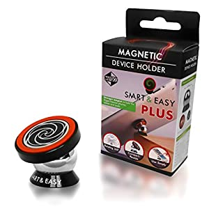 Magnetic Cell Phone Car Holder - SMART & EASY Car Mount Magnetic - Cell Phone Stand - Magnetic Tablet Phone Holder Suitable for iPhone X,8,8Plus,7,7Plus,6,6Plus, Samsung Galaxy S8,S8Plus(Red & Silver)