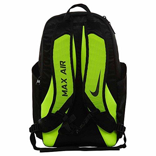 NIKE Vapor Power Training Backpack Black/Volt/Metallic Silver by NIKE (Image #2)