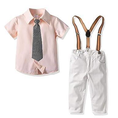 Conjunto de Dos Piezas para Niño, Camisa Manga Corta Color Sólido ...