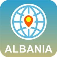Albania Mapa Desconectado