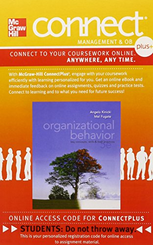 Connect 1-Semester Access Card for Organizational Behavior: Key Concepts, Skills & Best Practices