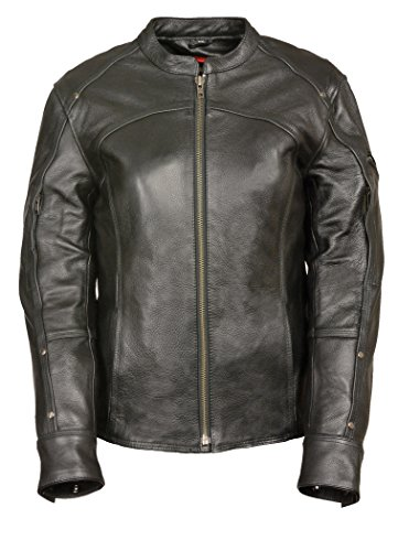 Stitch Insulated Jacket - Milwaukee Leather Women's Triple Stitch Detailed Jacket (Black, 2X-Large)