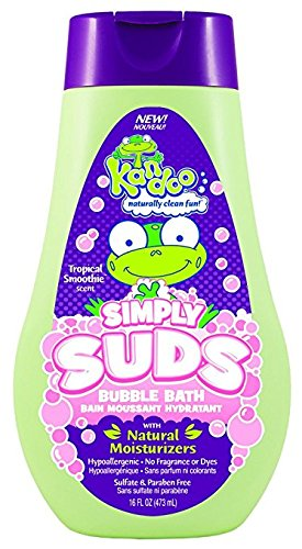Kandoo Moisturizing Kids Bubble Bath with Shea and Cocoa Butter, Tropical Smoothie Scent, 16 Fluid Ounce