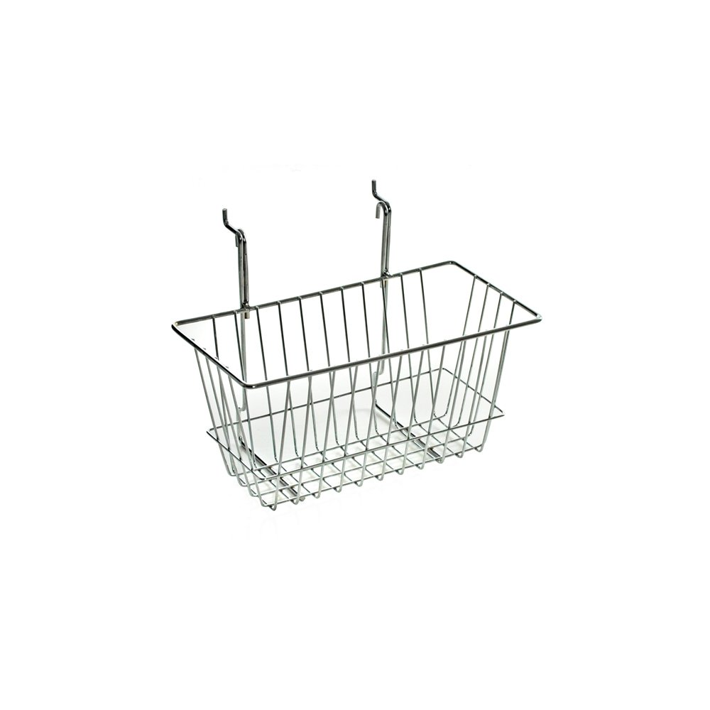 Azar 300620 Wire Basket, Chrome, Small