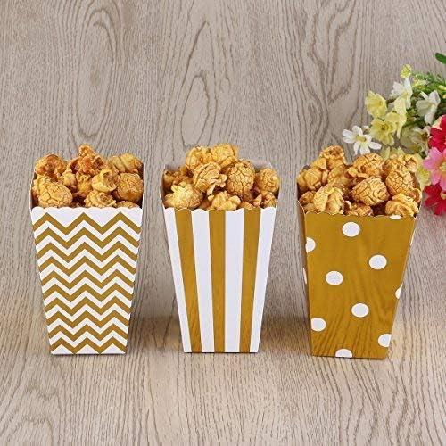 Carnaval,F/ête Soir/ée Cin/éma Pack de 18 BJ-SHOP Popcorn Bo/îtes Sacs de Pop-Corn Bonbons Conteneur pour Les Anniversaires