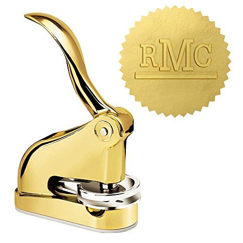 Luxury Gold Embosser - Underlined Monogram Desk Embosser by 904Custom