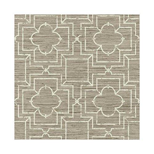 GE3661 Irongate Trellis Oriental Faux Grasscloth Geometric Trellis -