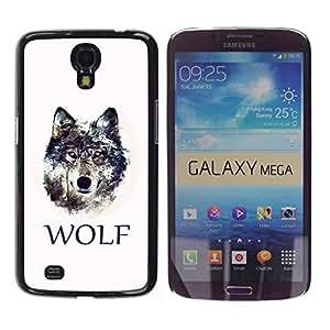 Be Good Phone Accessory // Dura Cáscara cubierta Protectora Caso Carcasa Funda de Protección para Samsung Galaxy Mega 6.3 I9200 SGH-i527 // WOLF