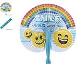 (24) 10'' Religious Folding Fans ~ ''SMILE JESUS Loves You!'' ~ CHRISTIAN FAVOR ~