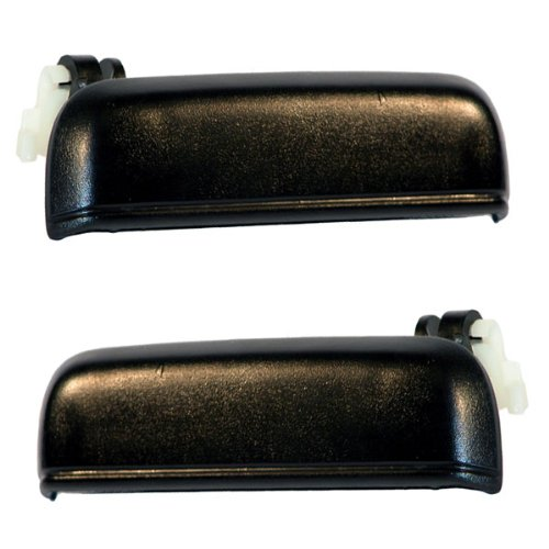 95-98 Toyota Tercel Front Outside Outer Exterior Black Door Handles Pair Set