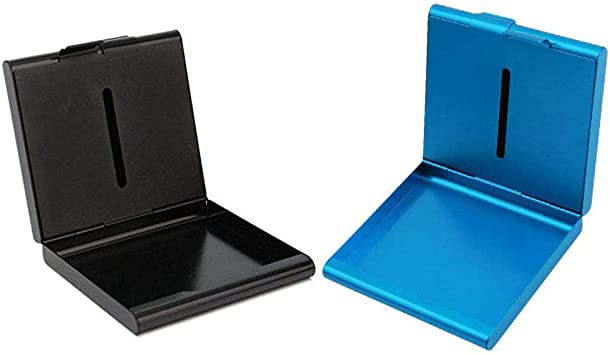 INTVN Pitilleras para Hombre Caja De Cigarillo Metal Pitillera Cigarrillos Hombre para Introducir 20 Cigarrillo Color Plateado: Amazon.es: Equipaje