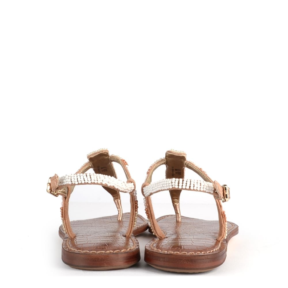 a4b6d423775c Sam Edelman Gail White and Nude Beaded Leather Sandal 36.5EU 3.5UK  White Nude  Amazon.co.uk  Shoes   Bags
