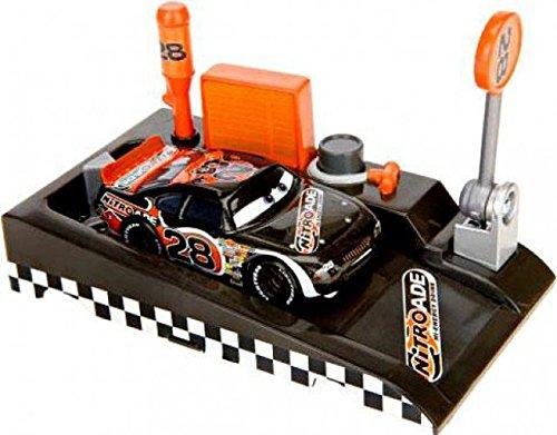 (Disney / Pixar CARS Movie 1:55 Die Cast Car Launch & Race Pit Row Race-Off Nitroade )