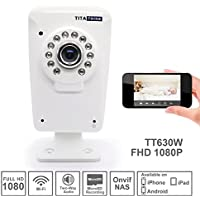 Titathink TT630W High Definition Full HD 1080P indoor Home Wireless Network IP Camera With IR Night Vision, Built-in Microphone, Motion Detection, SD recording