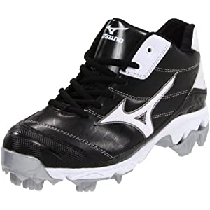 Mizuno Women's 9-Spike Advanced Finch 5 Softball Cleat,Black/White,5.5 M US