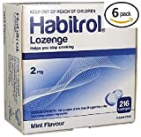 Habitrol Nicotine Lozenge 2mg Mint Flavor. 6 packs of 216 Lozenges (total 1296)