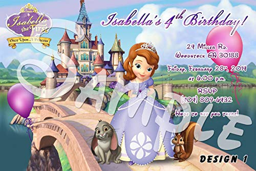 Sofia The First Personalized Birthday Invitations More Designs Inside!
