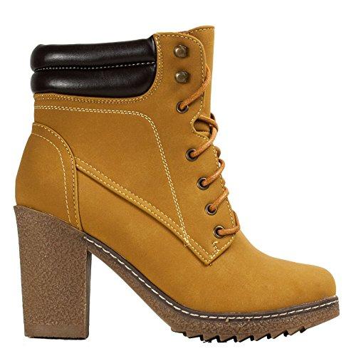 Beige donna zeppa scarponcini Scarpe Y1369 montagna Toocool stile scamosciate nuove stivaletti gv4faqH