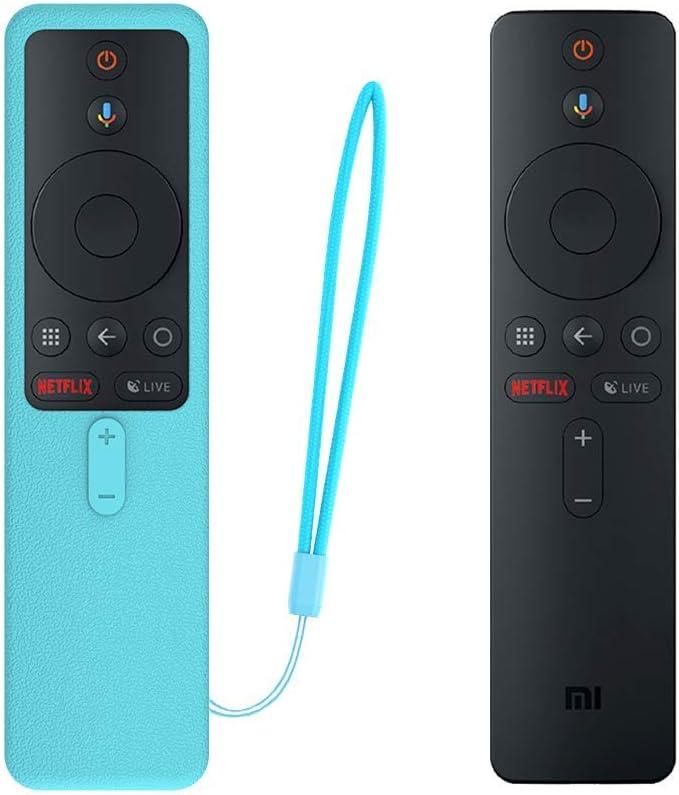 SIKAI Funda Protectora para MI TV Box S EU Mando a Distancia Carcasa de Silicona Resistente a Golpes para MI Box S Remote Antipolvo Antipérdida Protective Skin (Luminoso Azul)