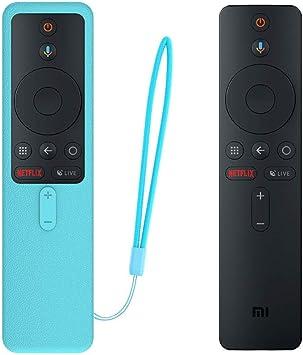 SIKAI Funda Protectora para MI TV Box S EU Mando a Distancia Carcasa de Silicona Resistente a Golpes para MI Box S Remote Antipolvo Antipérdida Protective Skin (Luminoso Azul): Amazon.es: Electrónica