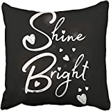 Black Girl Slogan Other Uses Graphics White Sports Love Tee Bright Shine College Flower Throw Pillow Cover Covers 18x18 Inch Decorative Pillowcase Cases Case Two Side
