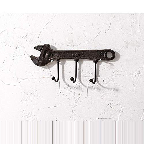 (DWLXSH Creative Retro Wrench Hook,Clothing Store Wall Hook Black Coat Rack Key Wall Hanging Wall Decoration Personality Door Decoration Door Hooks)