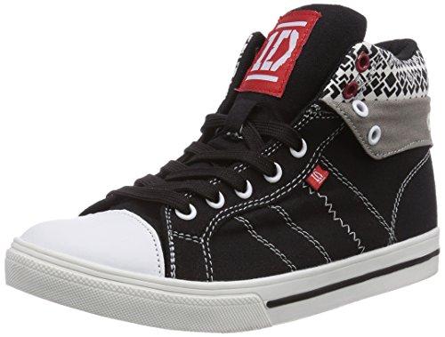 One Direction Girls Teens High Sneakers, Mädchen Hohe Sneakers, Mehrfarbig (165 WHITE/BLACK/BLACK/D.GREY/WHITE), 34 EU