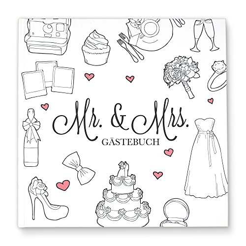 CUPCAKES & KISSES Gästebuch zur Hochzeit
