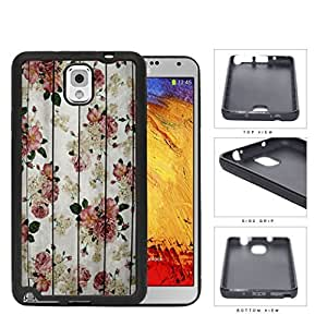 Vintage Pink Roses With Grunge Wood Surface Detail Rubber Silicone TPU Cell Phone Case Samsung Galaxy Note 3 III N9000 N9002 N9005